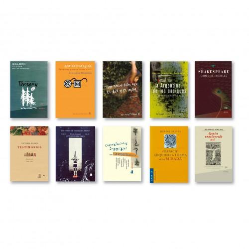 Tapas de libros. El estudio ha realizado aproximadamente 3000 tapas, para Argentina, España, y América Latina.